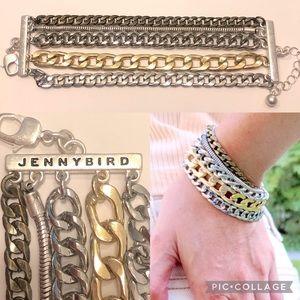 Jenny Bird Austin Cuff Mixed Metal Bracelet NWT